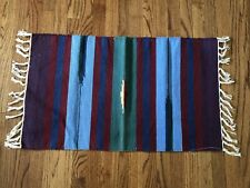 """Hand Woven Indian Dhurrie Rug 20"""" x 40"""" including fringes 100% Cotton"""