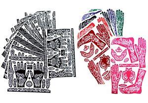 1 XXL Henna Tattoo Schablone Körper Hand Vorlage Muster Mehndi Body paint Paste