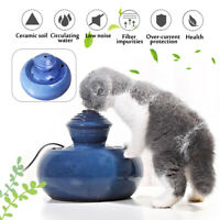 1.3L Pet Ceramic Flowing Fountain Auto Water Drinker Feeder Dog Cat Dispenser