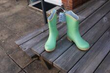 GREEN PULL ON WELLINGTON BOOTS SIZE 40 UK 6.5 rrp £39 Sanita