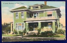 Antique Postcard 1912 Residence House Paris Texas