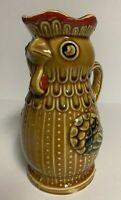 Vintage Ceramic Chicken Rooster EWER CREAMER PITCHER  ~29 Oz