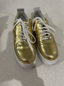 Windsor Smith Gold Shoes Size 10