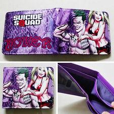 Suicide Squad Joker Logo Leather Wallets Purse 12cm Man Women Cool Gift #9