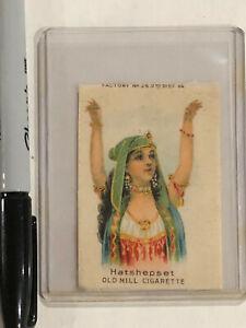 OLD MILL SILK CIGARETTE TOBACCO CARD EGYPTIAN WOMAN HATSHEPSET