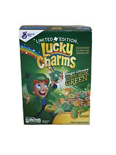Lucky Charms Limited Edition Cereal Magic Clovers Turn Milk Green 10.5 oz