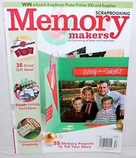 MEMORY MAKERS SCRAPBOOKING Magazine December 2006 NEW 55 Project Tell Your Story