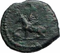 ANONYMOUS Genuine Ancient 81AD Rome Roman Quadrans Coin GRIFFIN TRIPOD i74887