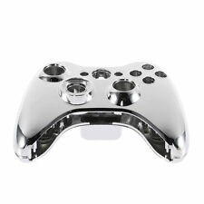 Chrome Silver modded Full Shell Gold Buttons for Xbox 360 Wireless Controller JK