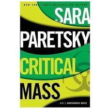 "A V. I. Warshawski Novel: ""CRITICAL MASS"" By Sara Paretsky 2013 (Hardcover)  NEW"