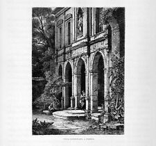 Stampa antica PADOVA Villa Giustiniani 1877 Old print
