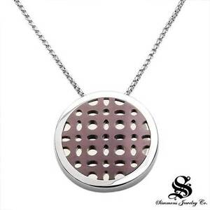 SIMMONS Necklace W/Genuine Clean Diamond Crafted in Stainless steel and Titanium