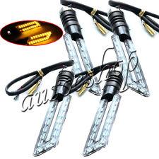 4X 15 LED 3528 SMD Motorcycle Turn Signal Indicators Lights Amber 12V Universal