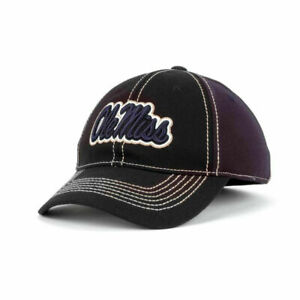 Ole Miss Rebels NCAA First Down Black & Navy Stitched Hat Cap Mississippi SEC MS