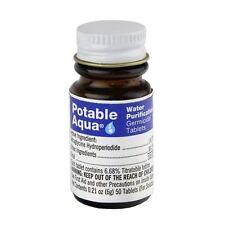 Potable Aqua Iodine Germicidal Water Purification Tablets 50 ct Emergency Water