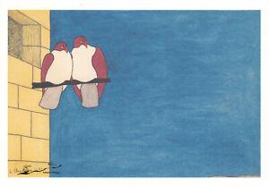 Postkarte: Chauveau - Die zwei Tauben