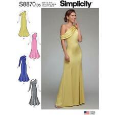 Simplicity Sewing Pattern 8870 Misses Evening Dress Size 4-12 Uncut