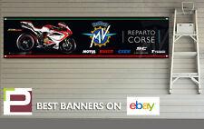 MV AGUSTA F4RC remodelada Corse XL Banner para taller, garaje, Pit Lane, Moto GP