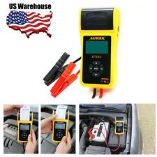 12V/24V BT-660 Car Cranking Starting Charging System Battery Tester Printer