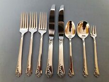 Lot Mixed  Pcs. Fork Knives Spoon HEIRLOOM DAMASK ROSE STERLING SILVER FLATWARE