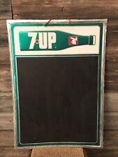 Vintage 7Up Sign Advertising Chalkboard