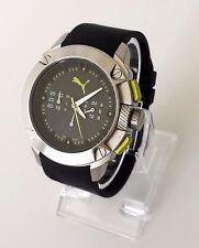 Puma caballero reloj Hybrid cronógrafo negro plata verde de silicona pu103711003