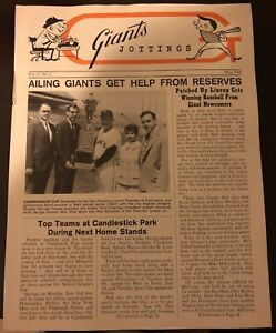 1968 SAN FRANCISCO Giants Jottings NEWSLETTER Willie MAYS Mike McCormick FRANKS
