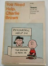 RETRO PEANUTS 'YOU NEED HELP, CHARLIE BROWN' PAPERBOOK BY CHARLES M. SCHULZ 1972