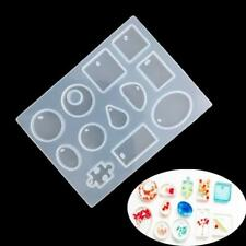 Jewelry Casting Mold 12 Designs Cabochon Silicon Mould With Hanging Hole Jian