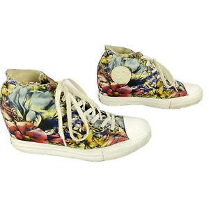 Converse All-Star Chuck Taylor Lux HI Floral Hidden Platform Wedge Sneakers 11