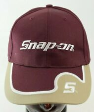 Snap-on Maroon & Beige Embroidered trucker baseball hat cap NOS
