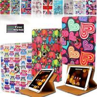 "For 7"" 8"" 10"" Argos Bush Tablet - Folio Rotating Stand Wallet Leather Cover Case"