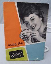 Exa Ii 35mm film camera instruction manual