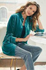 Soft Surroundings Velvet Boyfriend's Shirt *In Navy Blue* Medium