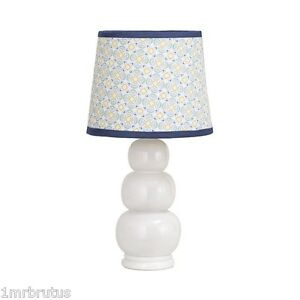 Petit Tresor Happy Animals Lamp Neutral Baby Nursery Decor White Blue Yellow
