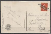 O3971/ FRANCE – Y&T # 138 WITH WWI CANCEL ON PATRIOTIC CARD