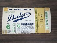 1956 World Series Game 6 Ticket Stub Brooklyn Dodgers vs New York Yankees