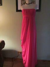 BCBG MAXAZRIA STRAPLESS BEGONIA PINK CHIFFON LONG DRESS Size 10