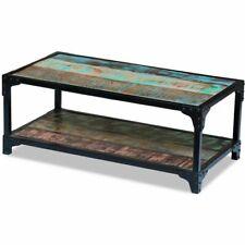 vidaXL Solid Reclaimed Wood Coffee Couch Side Tea Table Multicolor Steel Frame