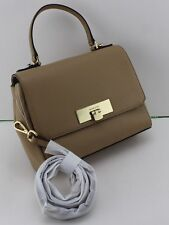 NEW AUTHENTIC MICHAEL KORS CALLIE MD TH SATCHEL DK CAMEL WOMEN'S HANDBAG