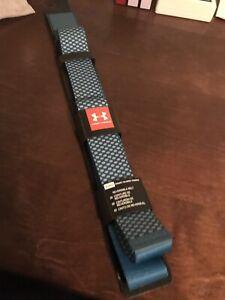 "New Under Armour Golf Belt Reversible Blue Printed Webbing Adjustable 42"" Max"