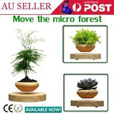 LED Magnetic Levitation Air Bonsai Suspension Flower Pot Potted Plant Novelty OZ