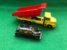 Corgi Juniors LT145 Scania Tipper Truck and Corgi Black London Taxi Cab