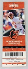 MLB 2015 05/02 Tampa Bay Rays vs. Baltimore Orioles Ticket-Miguel Gonzalez WP