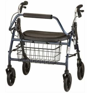 NOVA Mighty Mack Heavy Duty 4216 Blue X-Wide Bariatric Rollator Rolling Walker