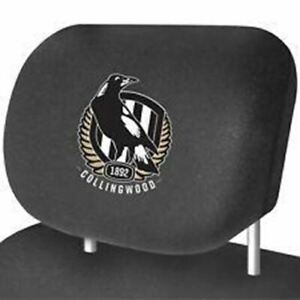 Collingwood Magpies Car Headrest Covers Set of 2