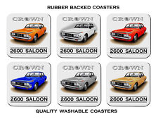 73'  74'   TOYOTA  CROWN  2600  SALOON  MS65   SET OF  6 RUBBER DRINK  COASTERS