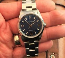 BEAUTIFUL GENTS 1999 ROLEX 14000 AUTOMATIC AIRKING WITH STUNNING BLUE DIAL.