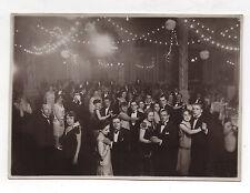 PHOTO ANCIENNE Salle de Bal Danseurs Danse Vers 1920-1930 Soirée Fête