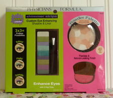 PHYSICIANS FORMULA PRESSED POWDER PALETTE MULTI-COLORED & POP EYE SHIMMER STRIPS